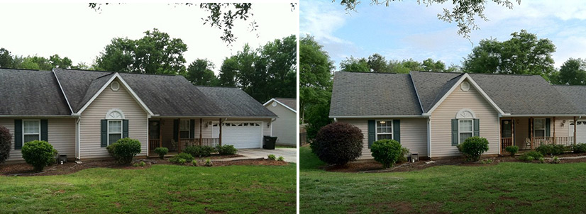 No Pressure Roof Cleaning In Greenville Sc