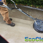 Pressure washing concrete in Anderson, SC.